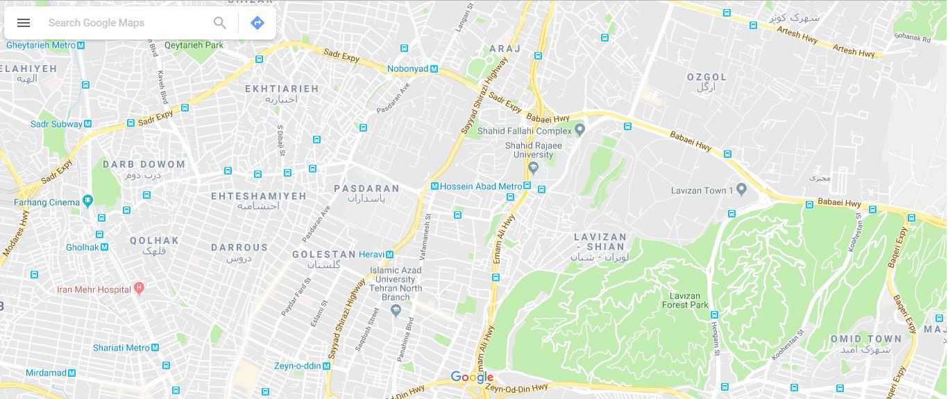 ثبت موقعیت در google maps