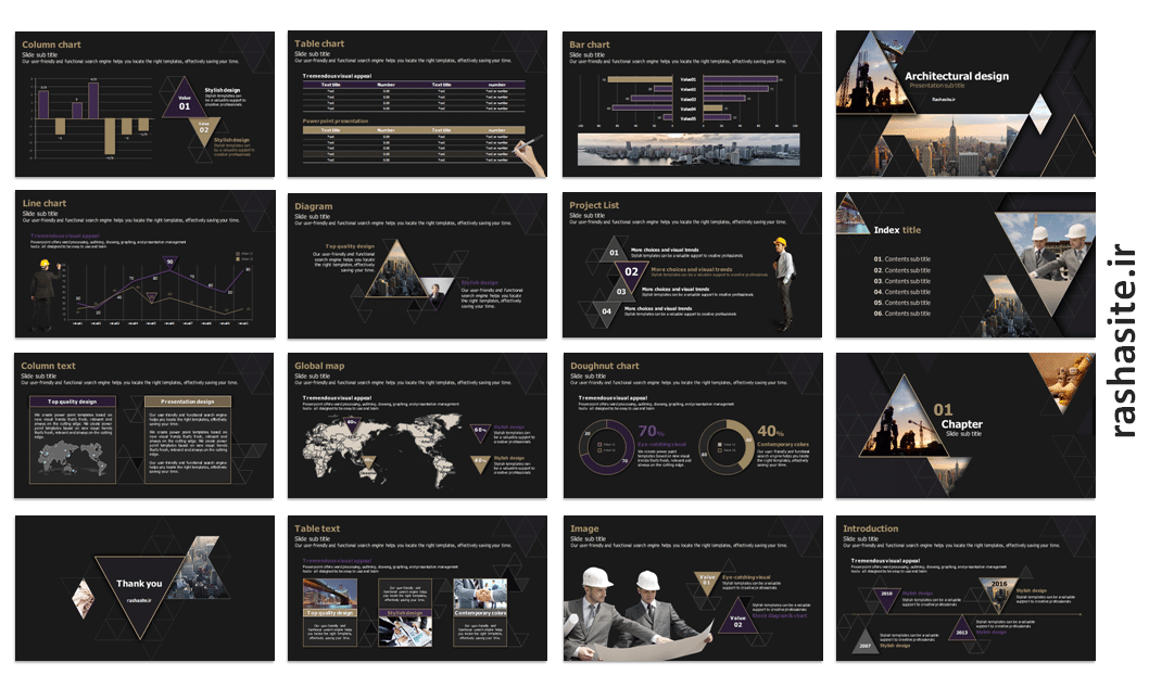 powerpoint template for architecture